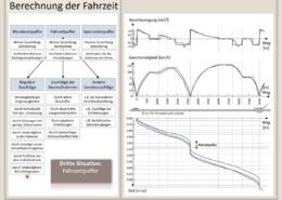 Erklärung Fahrzeitkonstruktion, Fahrplantechnik, Bahntechnik, Bahnbetrieb